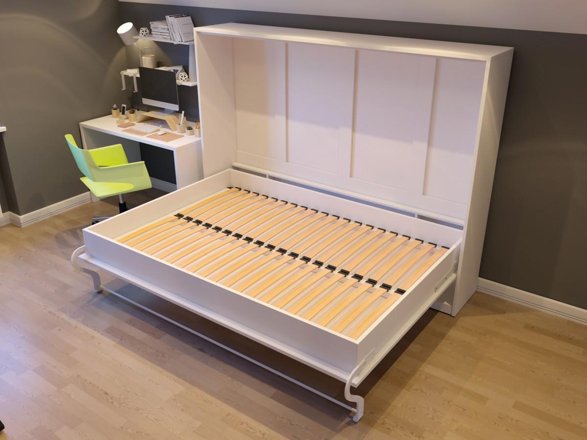 Murphy Beds Germany : Folding wall bed smartbett cm horizontal venge with