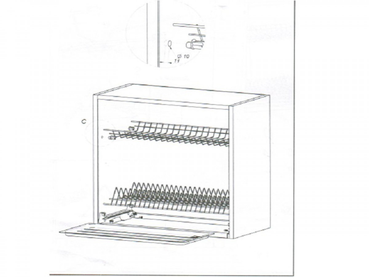 abtropfgestell variant zum k chenschrank 60 cm 17 65. Black Bedroom Furniture Sets. Home Design Ideas
