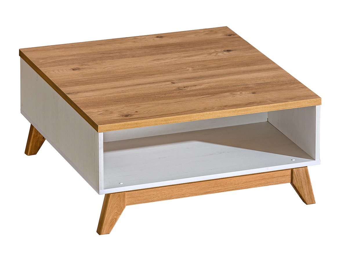 Couchtisch Tisch SV10 SVEN Korpus Kiefer Weiß Tischplatte