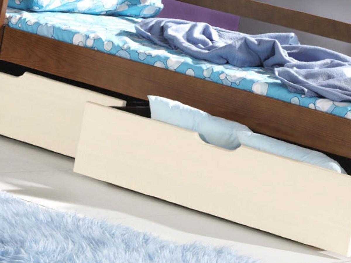 etagenbett mit leiter nussbaum echtholz hochbett f r kinder 61. Black Bedroom Furniture Sets. Home Design Ideas