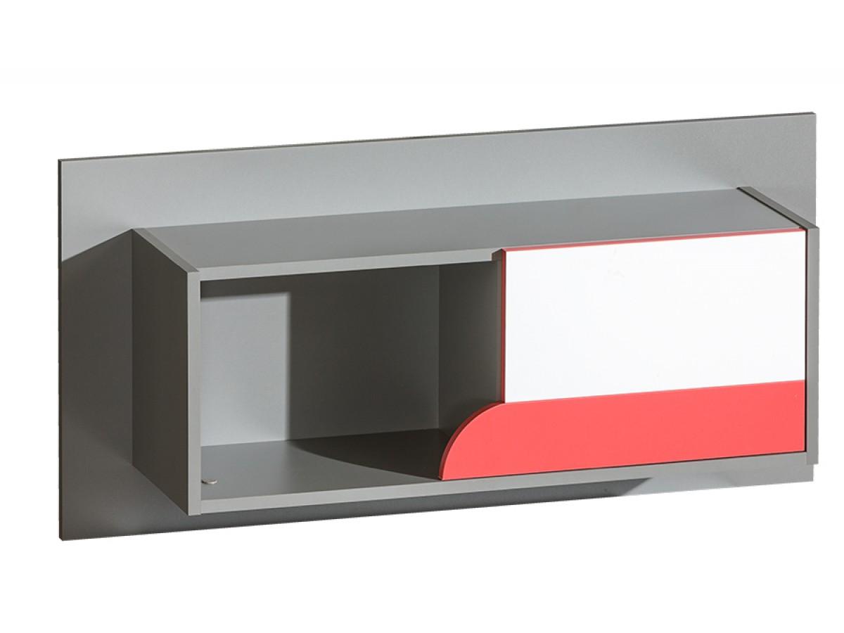 h ngeregal futuro mit 1 t r himbeere brillantwei 87. Black Bedroom Furniture Sets. Home Design Ideas