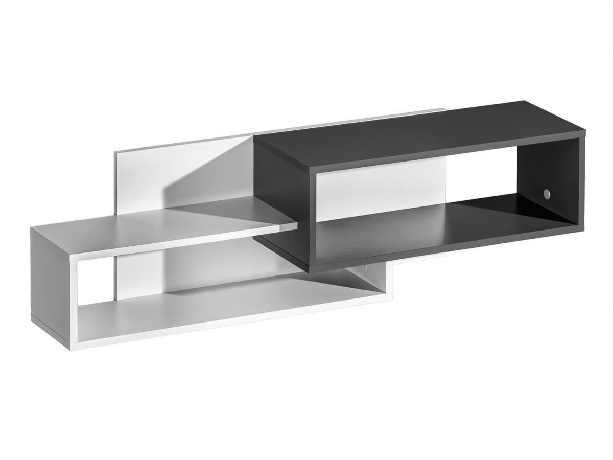 h ngeregal weiss grau 57 49. Black Bedroom Furniture Sets. Home Design Ideas