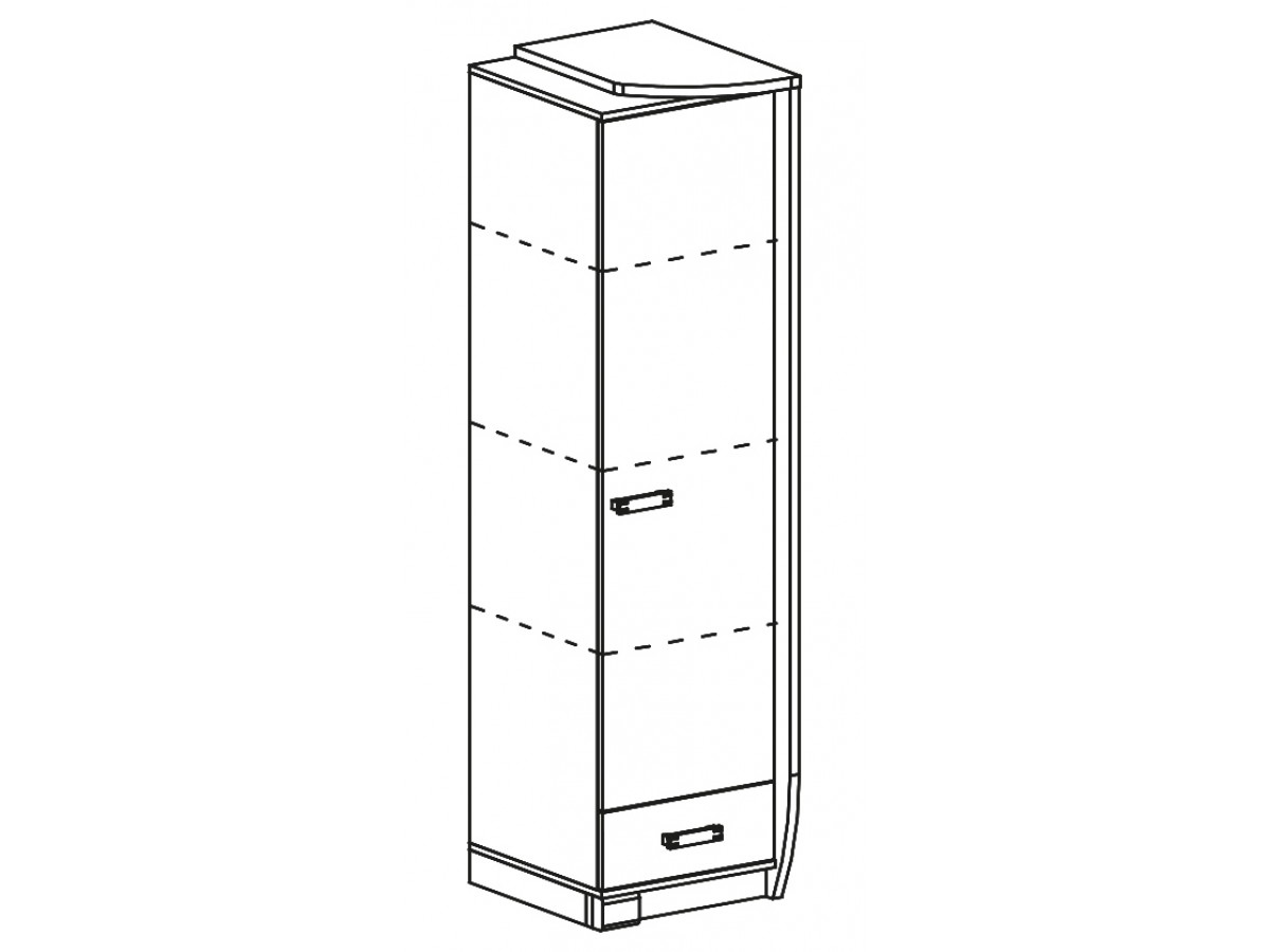 hochschrank romero rechts mit 1 t r und 1 schublade eiche canyon. Black Bedroom Furniture Sets. Home Design Ideas