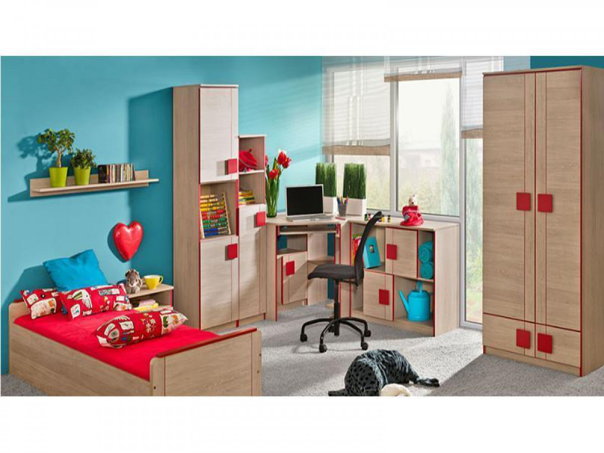 jugendzimmer f r m dchen jungen mickys 01 7 tlg ei. Black Bedroom Furniture Sets. Home Design Ideas