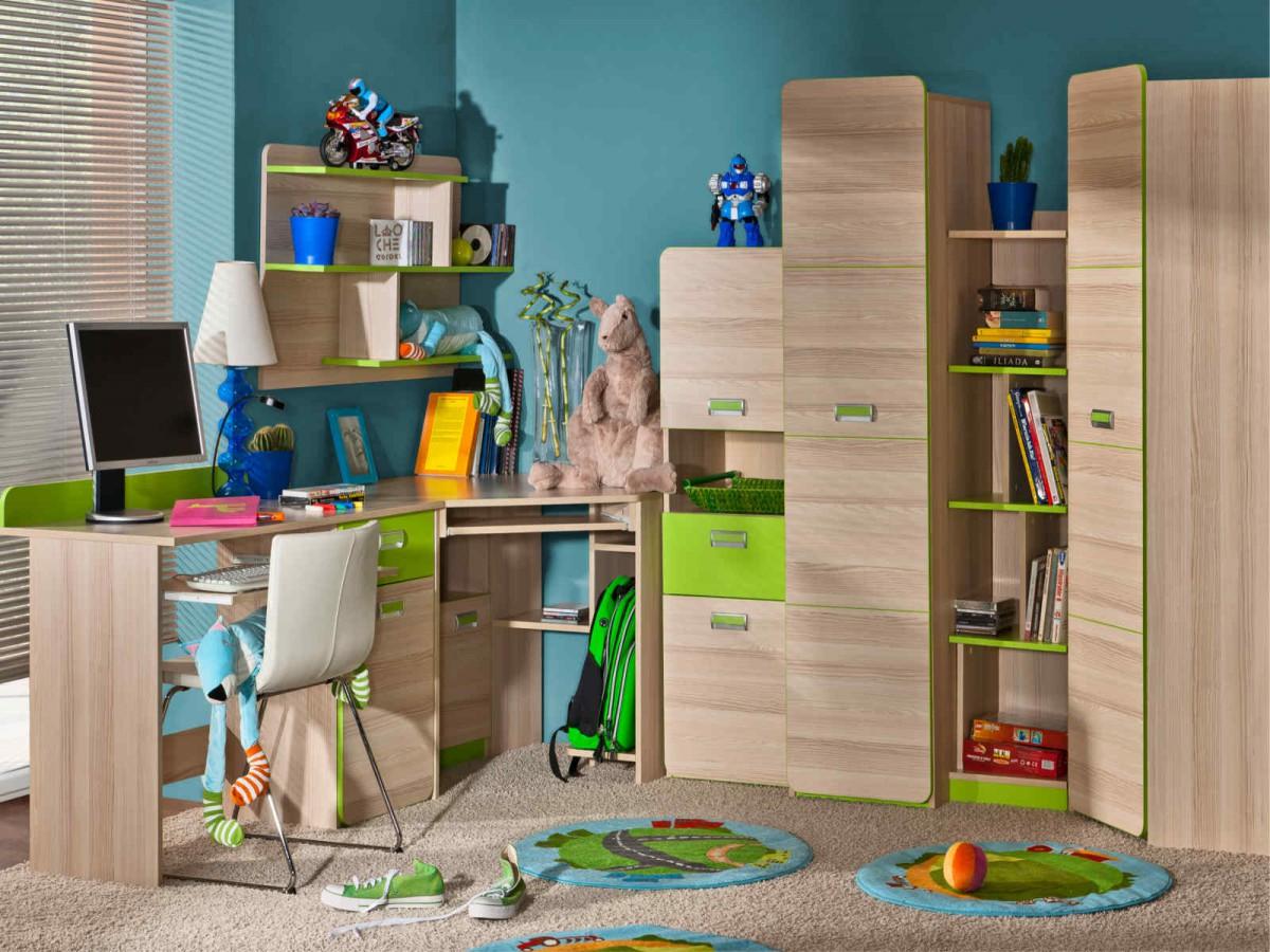 jugendzimmer komplett set limo 07 7 tlg esche natur. Black Bedroom Furniture Sets. Home Design Ideas