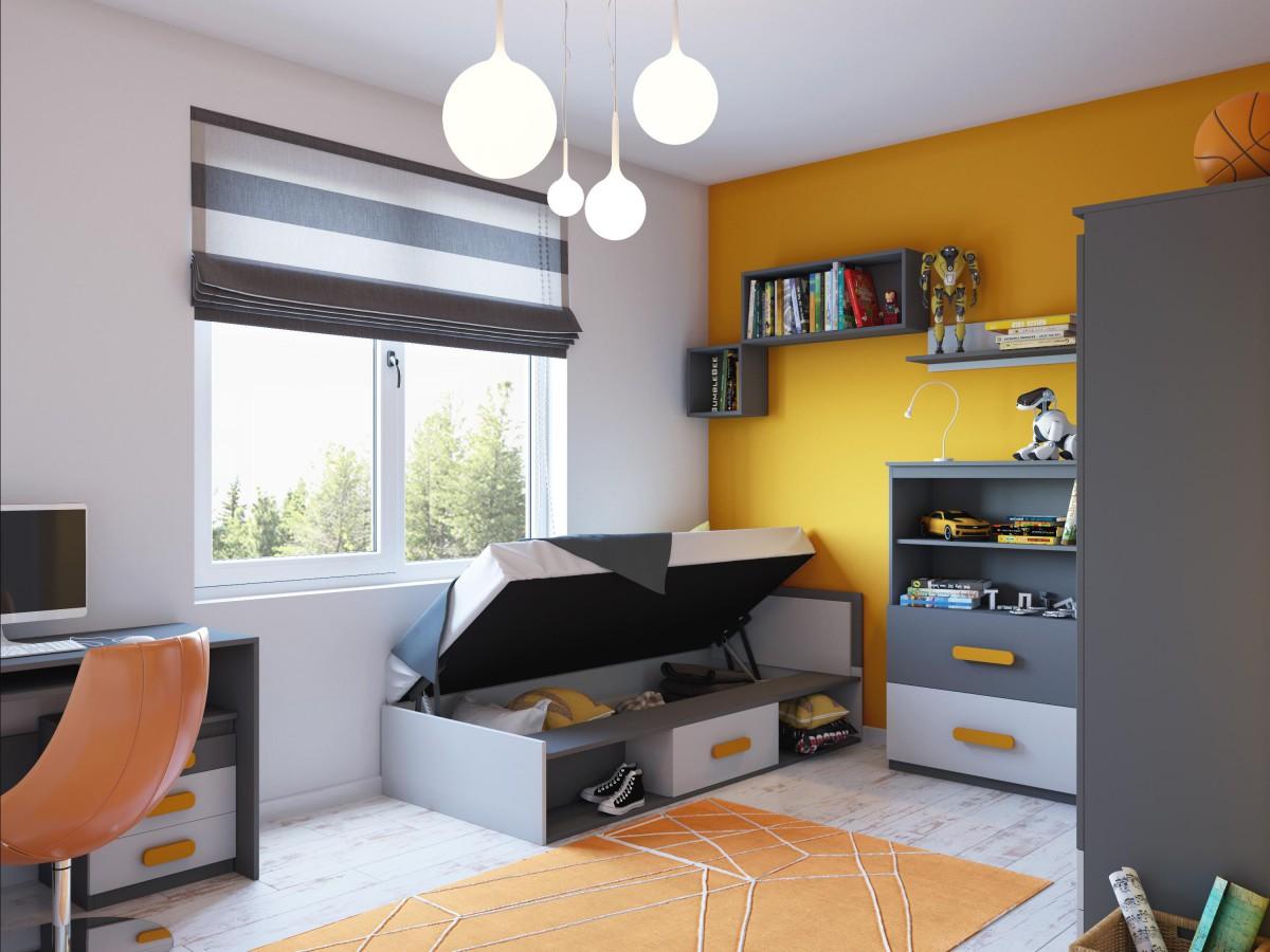 jugendzimmer komplett set play 07 10 tlg anthrazit grau. Black Bedroom Furniture Sets. Home Design Ideas