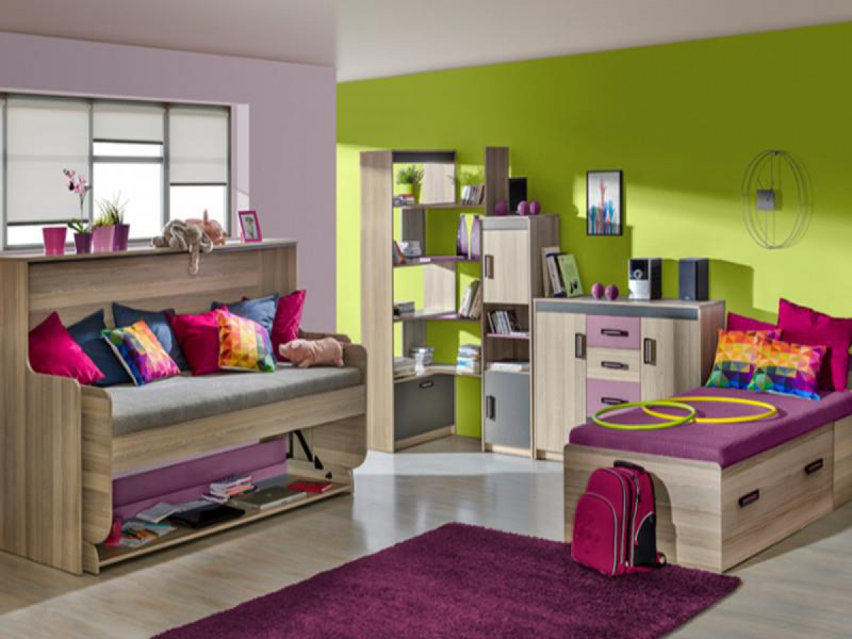 jugendzimmer komplett set timo 02 5 tlg esche dunkel violett. Black Bedroom Furniture Sets. Home Design Ideas