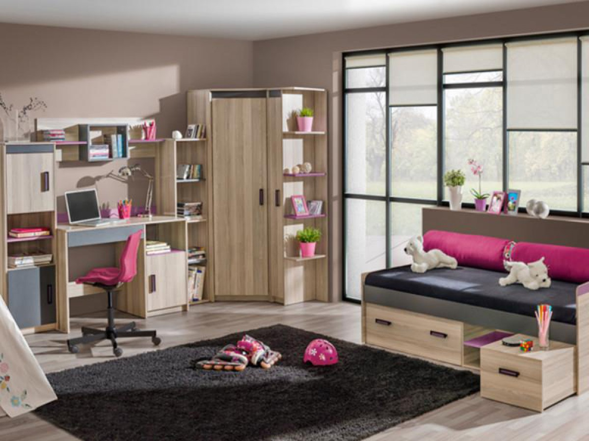 jugendzimmer komplett set timo 08 7 tlg esche dunkel. Black Bedroom Furniture Sets. Home Design Ideas