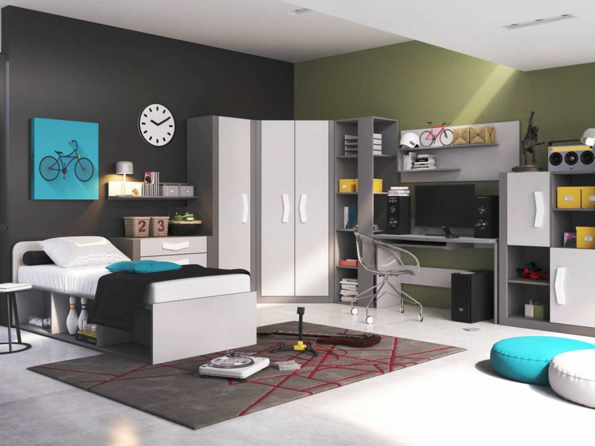 jungen zimmer m bel verschiedene ideen. Black Bedroom Furniture Sets. Home Design Ideas