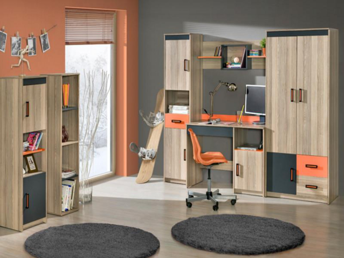 jugendzimmer f r m dchen jungen timo 01 6 tlg esch. Black Bedroom Furniture Sets. Home Design Ideas