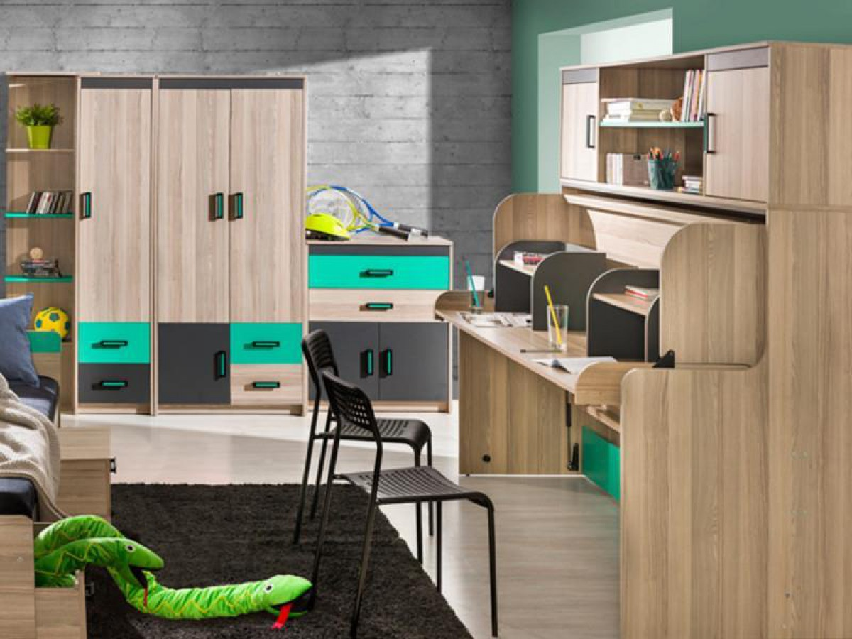 jugendzimmer f r m dchen jungen timo 03 8 tlg esch. Black Bedroom Furniture Sets. Home Design Ideas