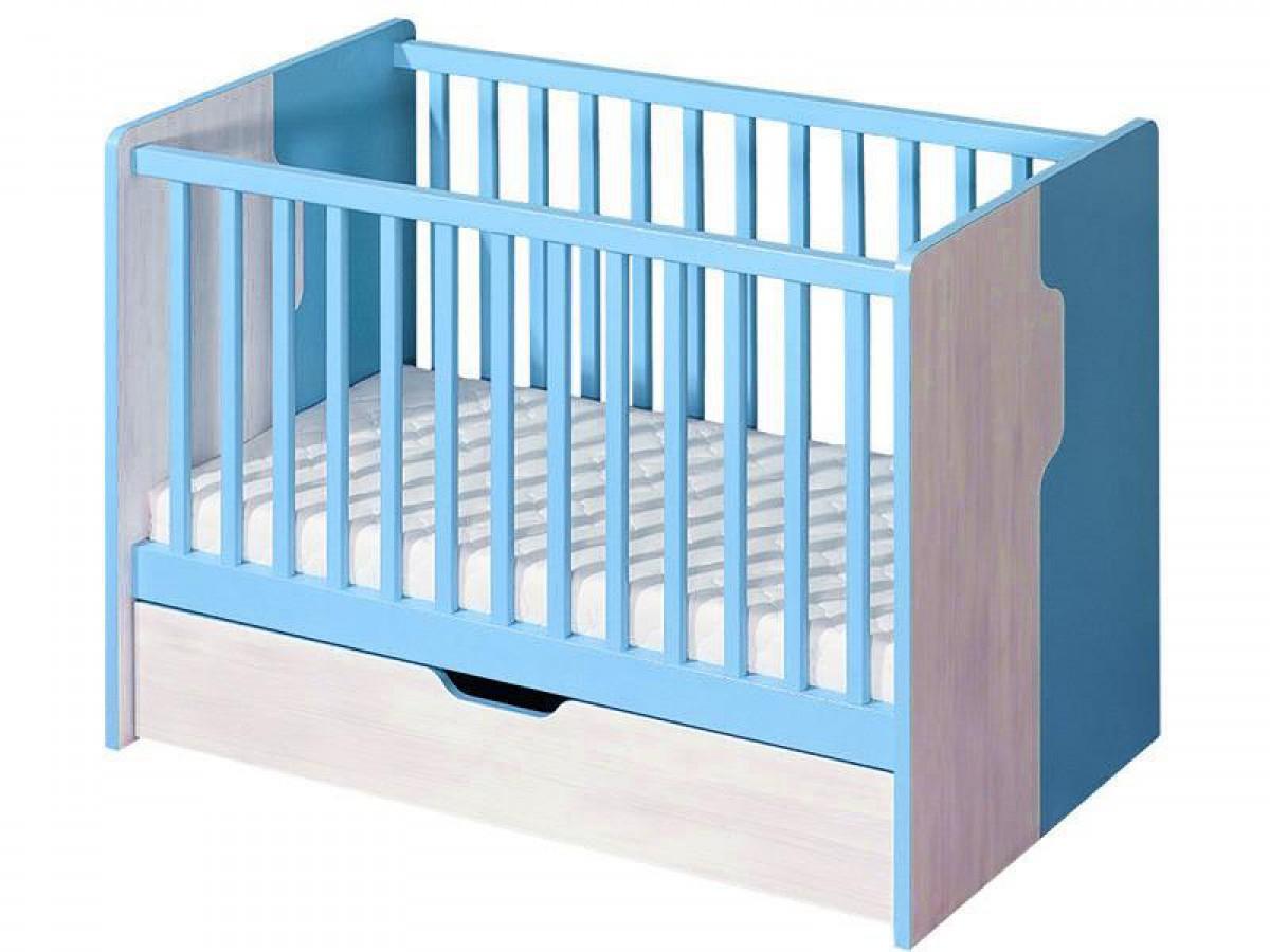 babybett nemo blau kiefer norwegen 244 60. Black Bedroom Furniture Sets. Home Design Ideas
