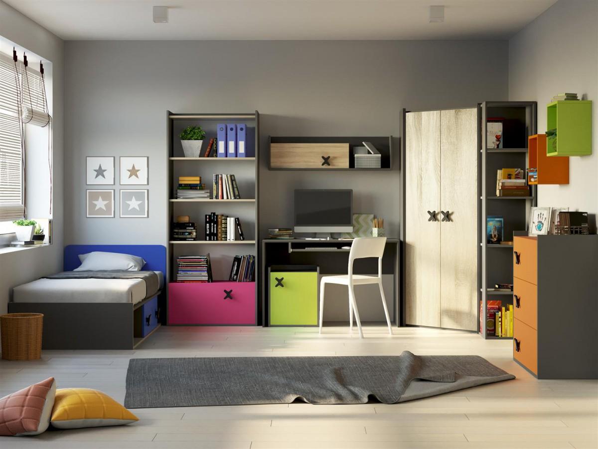 jugendzimmer komplett set youth room ics 05 4 pcs. Black Bedroom Furniture Sets. Home Design Ideas