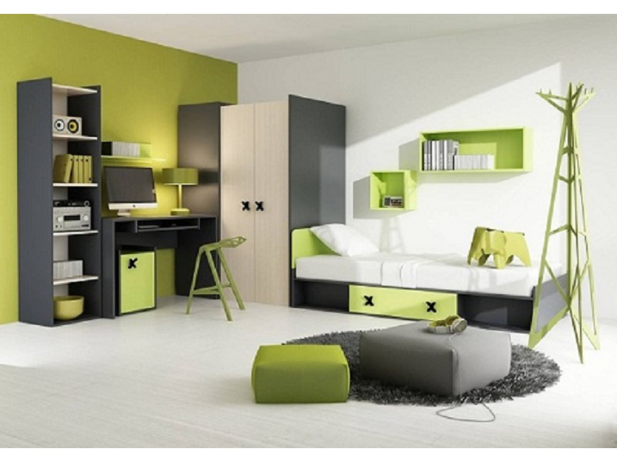jugendzimmer f r m dchen jungen iks 01 7 tlg recht. Black Bedroom Furniture Sets. Home Design Ideas
