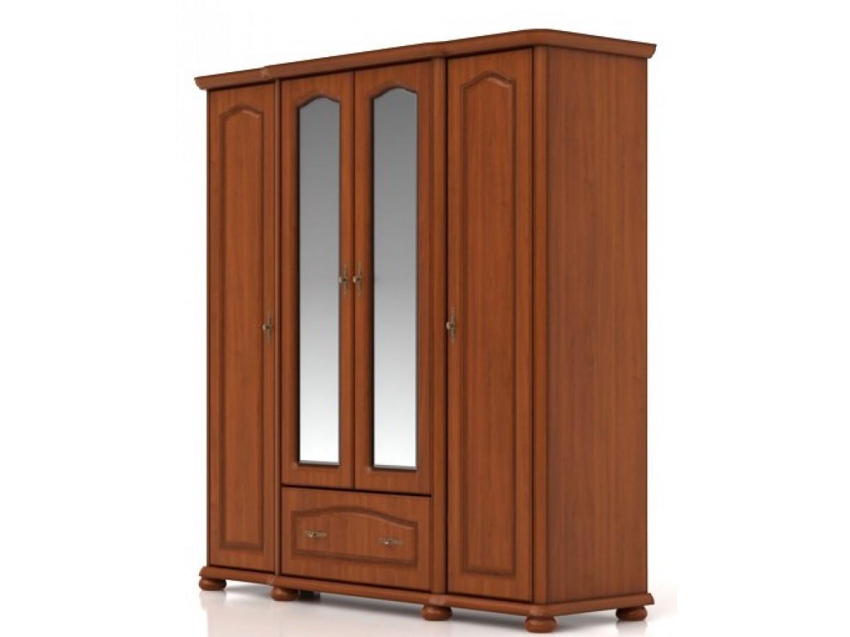 kleiderschrank natali mit4 t ren und 1 schublade 85. Black Bedroom Furniture Sets. Home Design Ideas