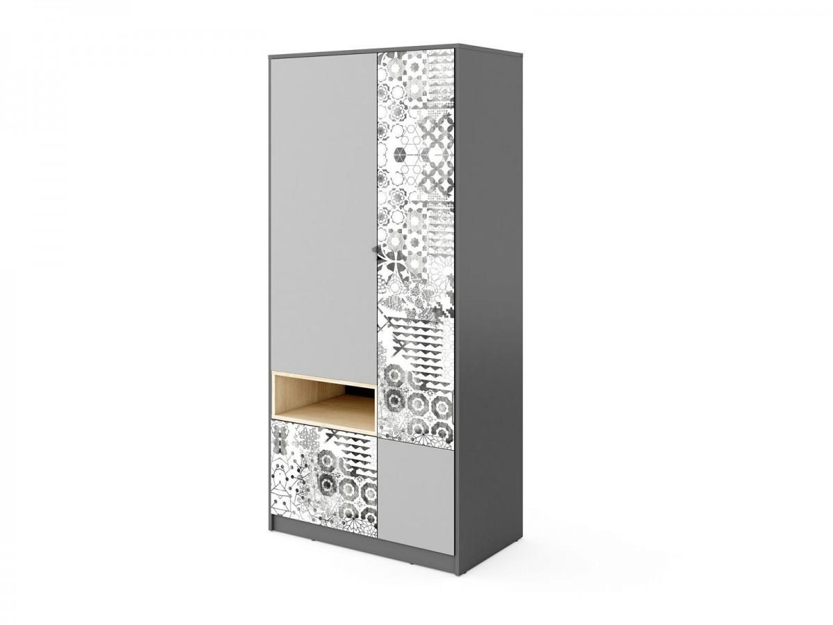 kleiderschrank poko anthrazit hellgrau 244 95. Black Bedroom Furniture Sets. Home Design Ideas