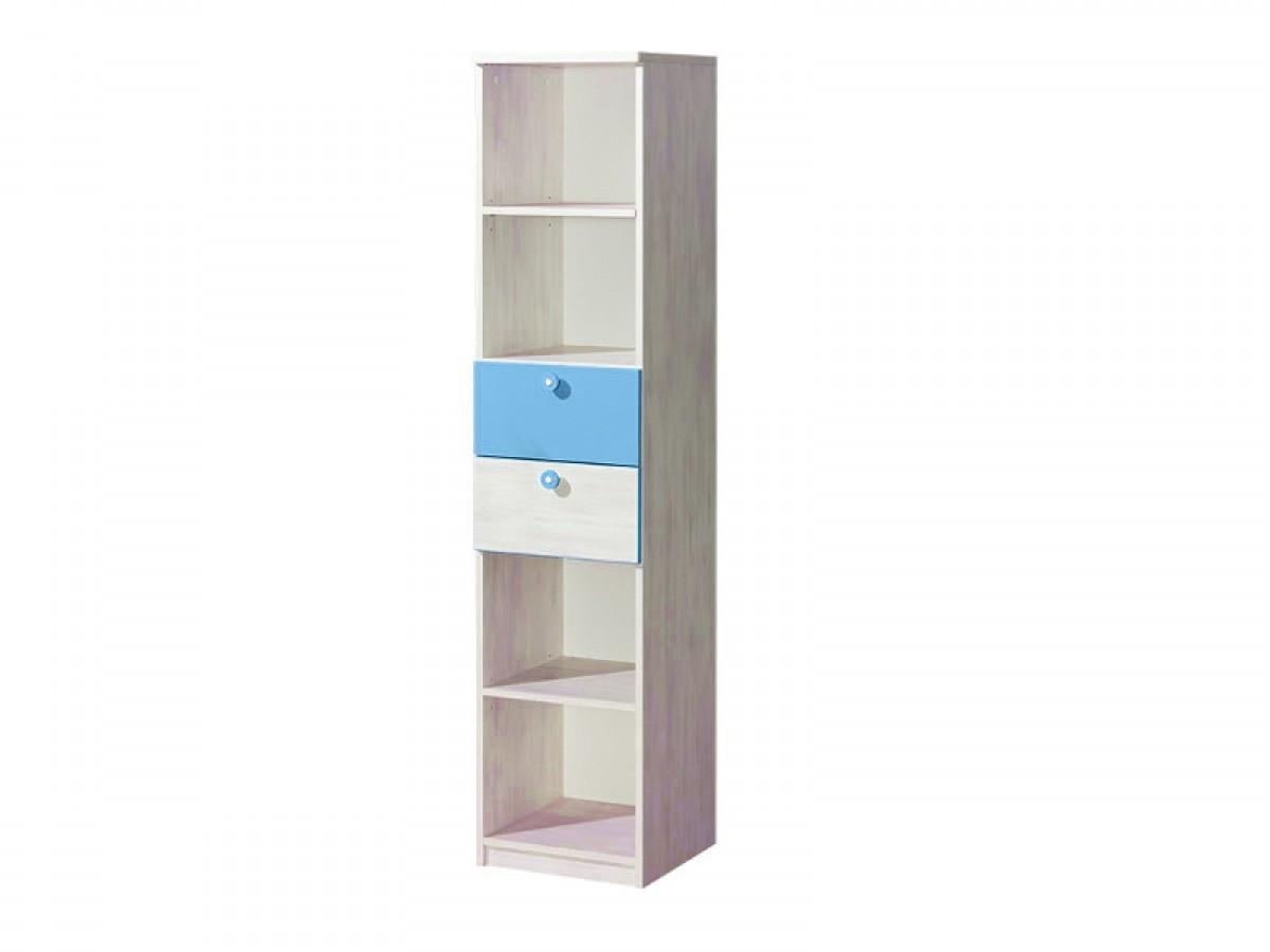regal nemo mit zwei schubladen blau kiefer norwegen 112 95. Black Bedroom Furniture Sets. Home Design Ideas