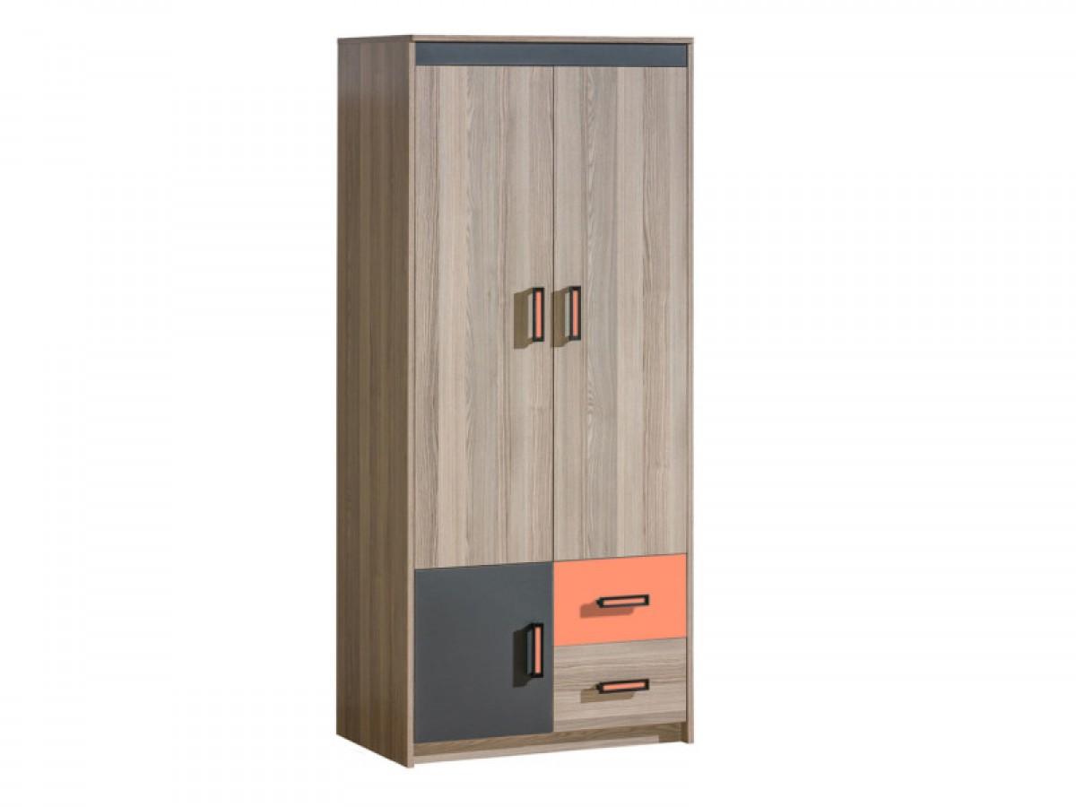 kleiderschrank mit zwei t ren und 2 schubladen esche. Black Bedroom Furniture Sets. Home Design Ideas