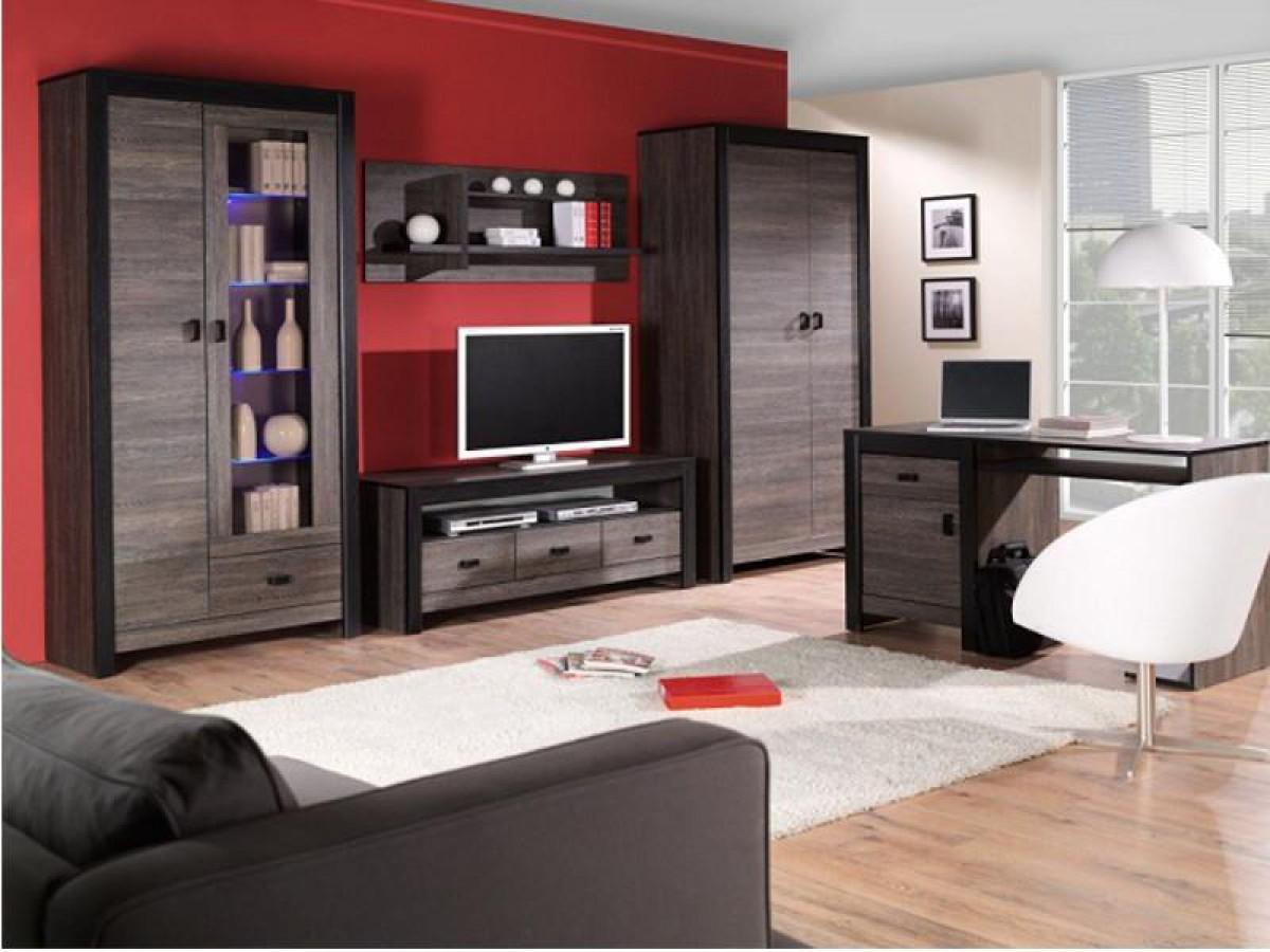 Furniture Living Room Walls Denver 02 Wenge