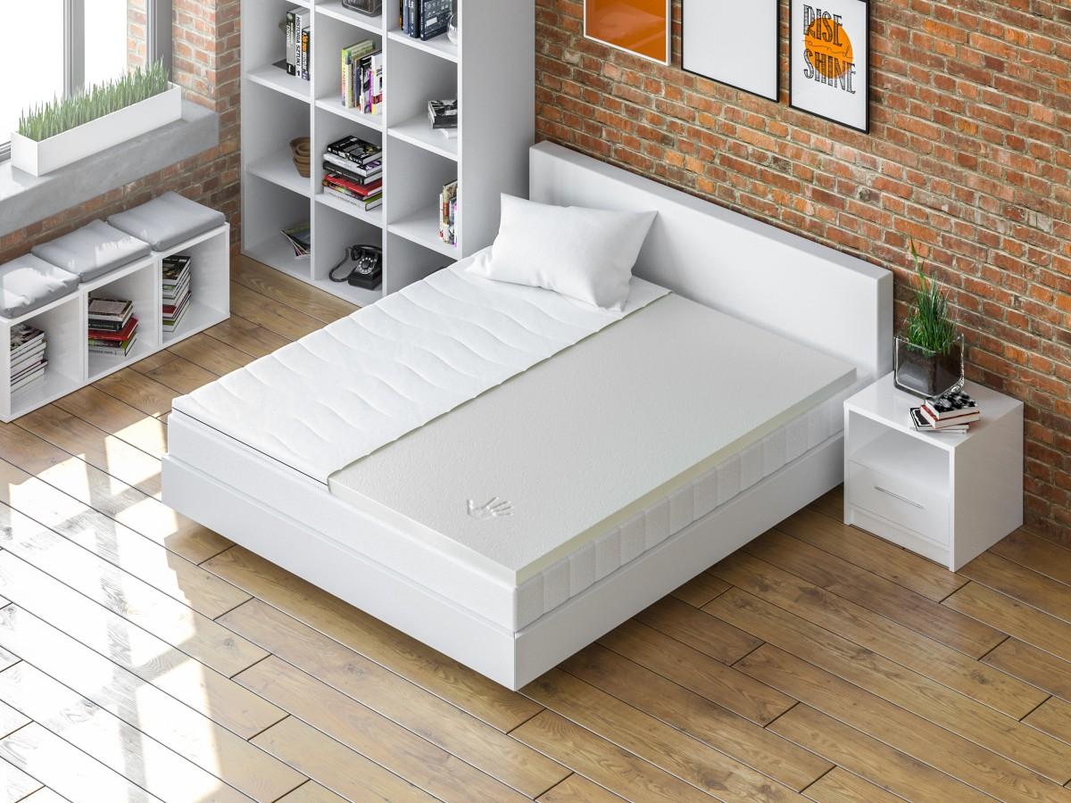 matratzenauflage visco elastic schaum 90x200 cm 67 45. Black Bedroom Furniture Sets. Home Design Ideas