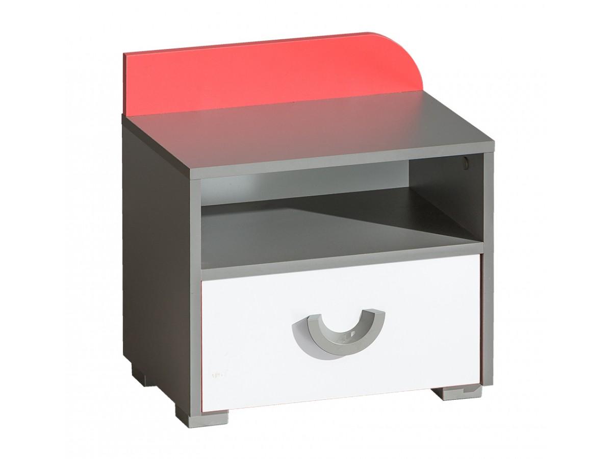 nachttisch futuro mit 1 schublade himbeere brillantwei. Black Bedroom Furniture Sets. Home Design Ideas