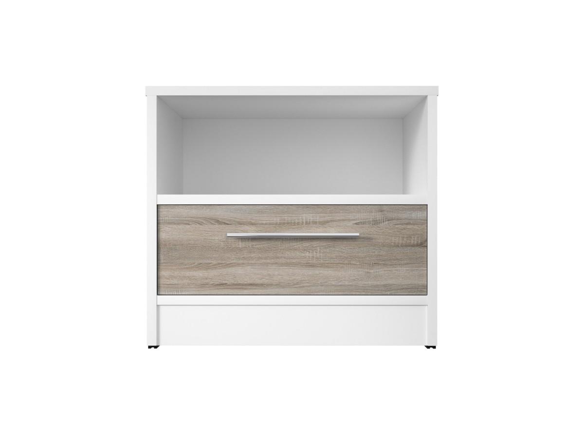 smartbett nachttisch mit einer schublade wei eiche sonoma. Black Bedroom Furniture Sets. Home Design Ideas