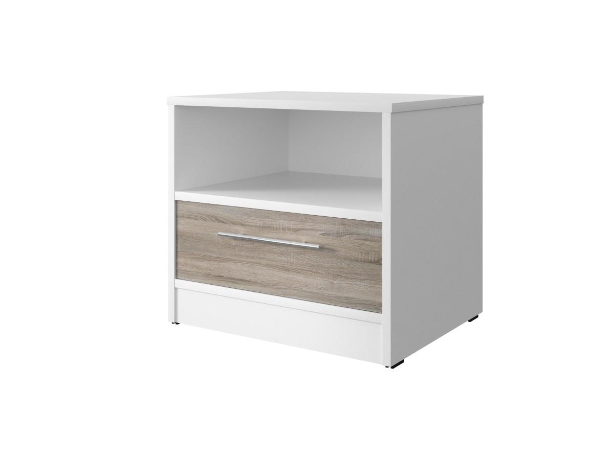 smartbett nachttisch mit einer schublade wei eiche sonoma 61. Black Bedroom Furniture Sets. Home Design Ideas