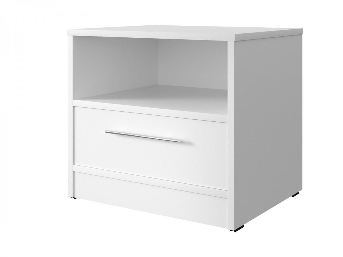 smartbett nachttisch mit einer schublade wei 61 95. Black Bedroom Furniture Sets. Home Design Ideas