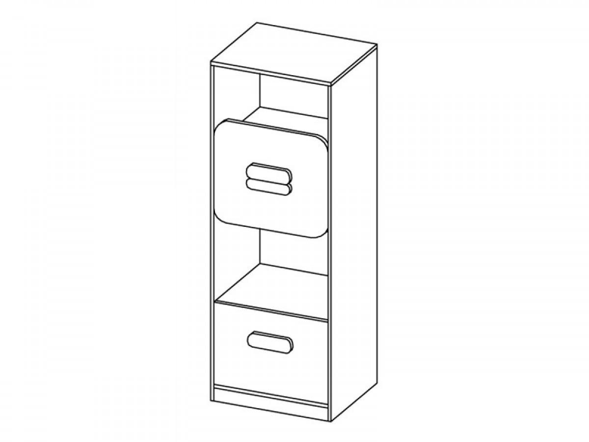regal gusto mit schublade eiche natur wei 98 65. Black Bedroom Furniture Sets. Home Design Ideas
