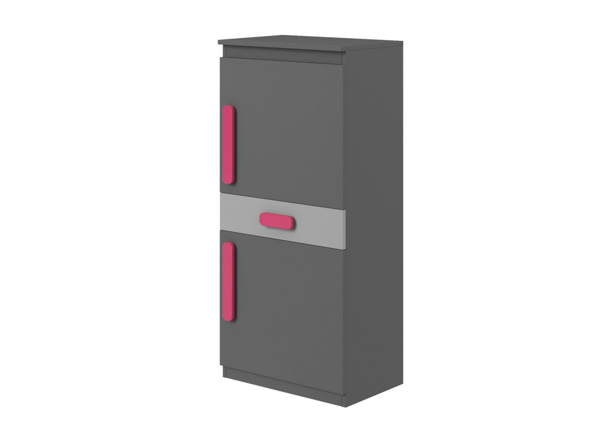 regal 60cm play anthrazit grau pink 157 95. Black Bedroom Furniture Sets. Home Design Ideas