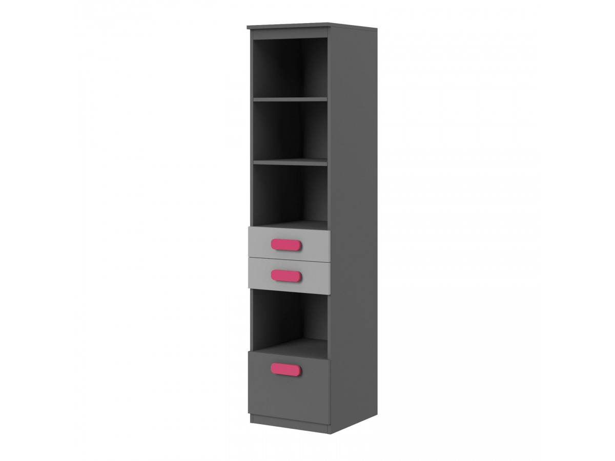 youth room play 01 10 pc anthracite grey pink. Black Bedroom Furniture Sets. Home Design Ideas