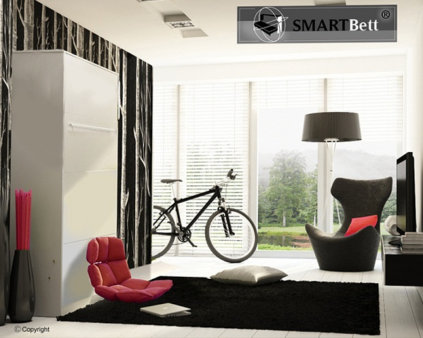 schrankbett smartbett hochkantbett 90cm vertikal in der. Black Bedroom Furniture Sets. Home Design Ideas