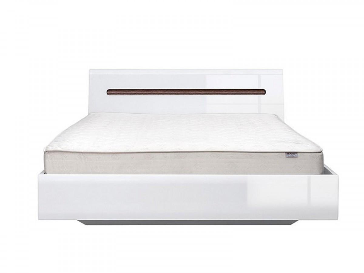 Platform Double Bed 160 Cm Azteca White White High Gloss 367 95 S