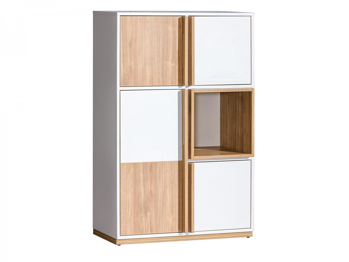 schrank highboard kommode e5 evado wei nussbaum 172 15. Black Bedroom Furniture Sets. Home Design Ideas