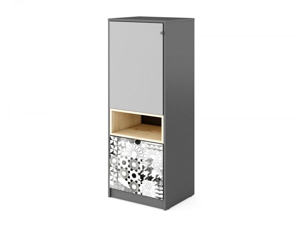 schrank poko anthrazit hellgrau 166 95. Black Bedroom Furniture Sets. Home Design Ideas