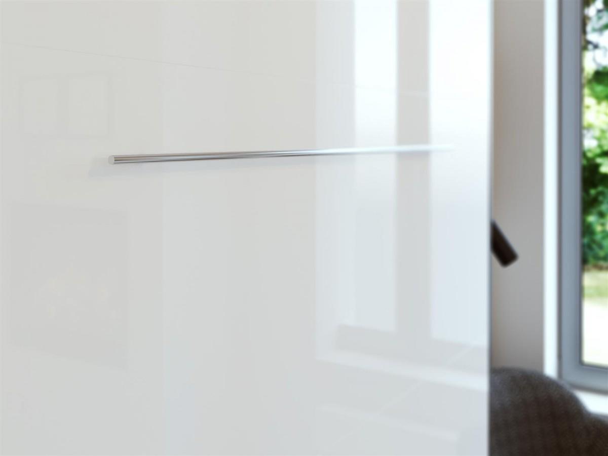 schrankbett 140cm vertikal anthrazit grau weiss hochglanzfront latt. Black Bedroom Furniture Sets. Home Design Ideas