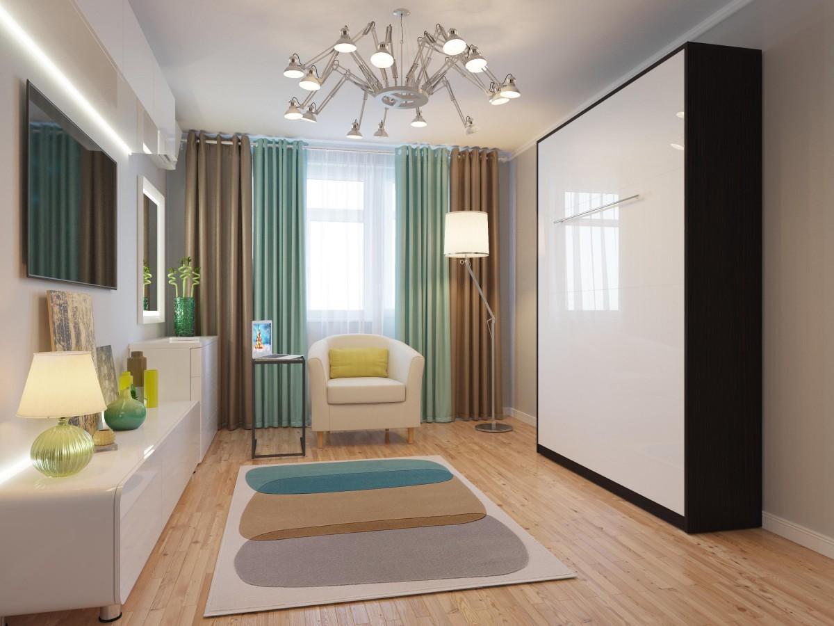 folding wall bed 140cm vertical venge with white high. Black Bedroom Furniture Sets. Home Design Ideas