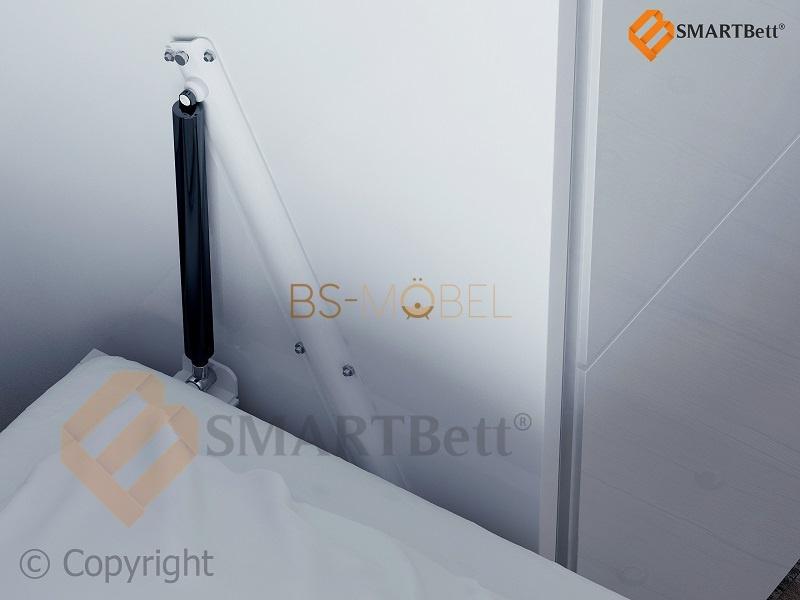 schrankbett 160x200 wei hochglanz smartbett mit smart punkt ka. Black Bedroom Furniture Sets. Home Design Ideas