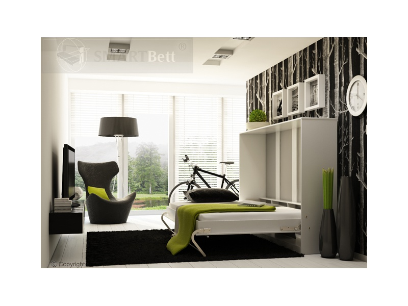 schrankbett smartbett klappbett querbett 140cm. Black Bedroom Furniture Sets. Home Design Ideas