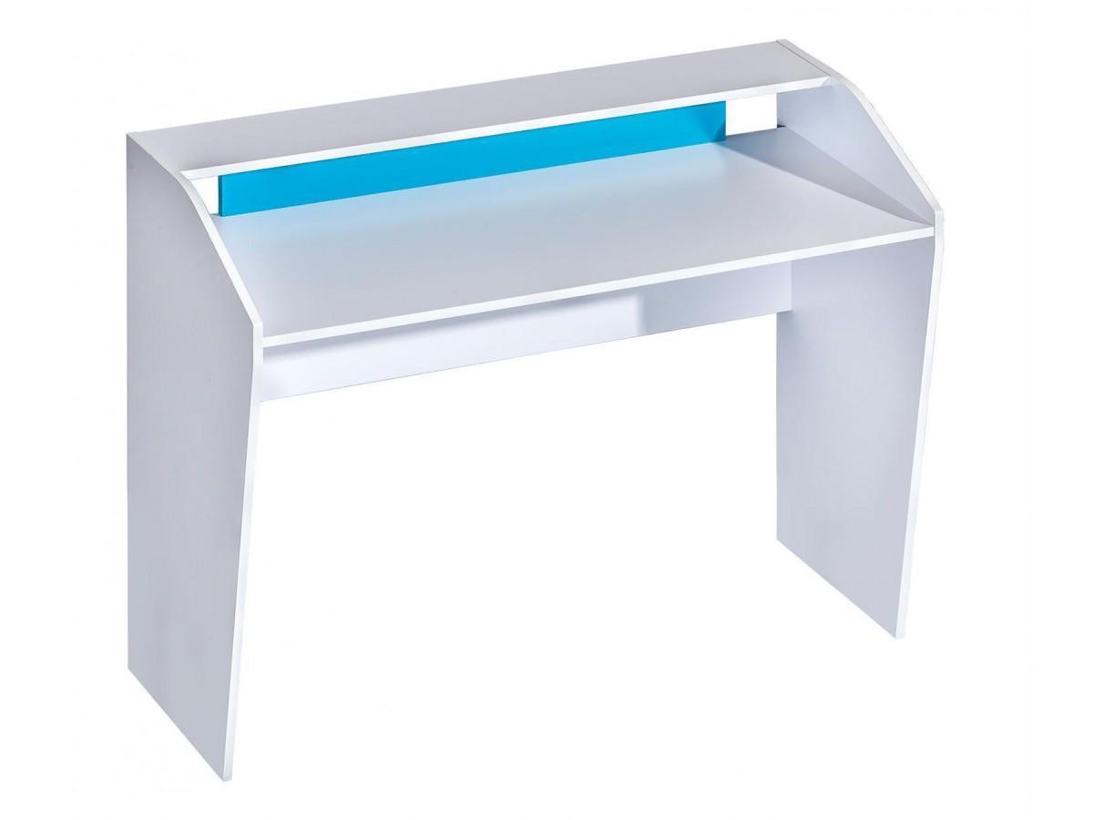 Schreibtisch 120 cm weiss blau 105 95 for Schreibtisch gross