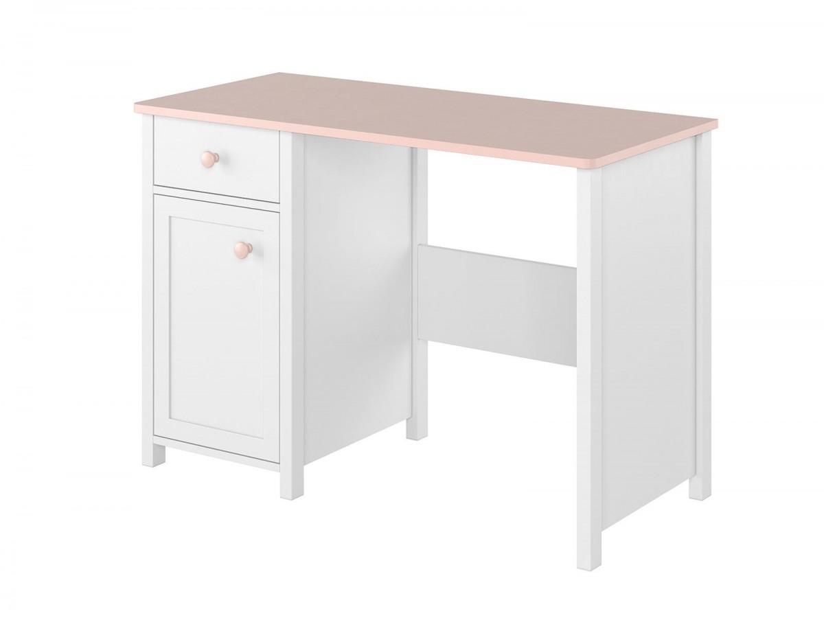 Schreibtisch Luna Weiss Rosa Mit1t R Und 1 Schublade 173 20
