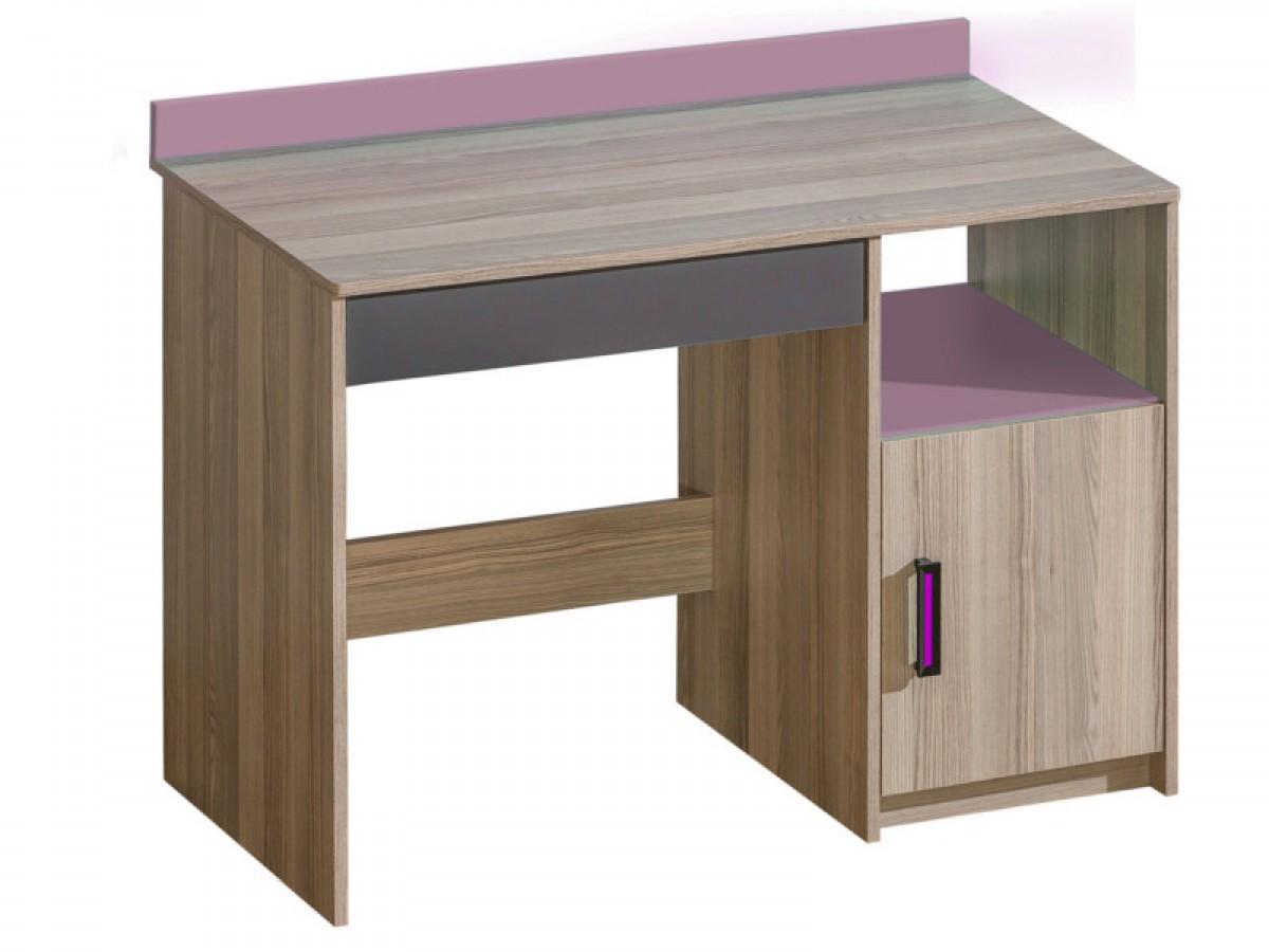 Schreibtisch timo mit einer t r esche dunkel violett 114 40 for Schreibtisch dunkel