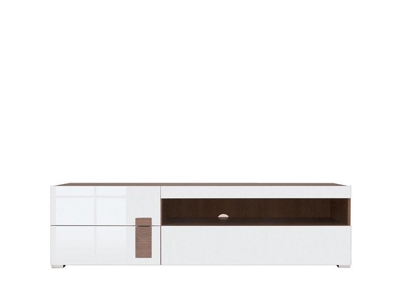 tv unterschrank wei wei hochglanz mit 3 schubladen. Black Bedroom Furniture Sets. Home Design Ideas