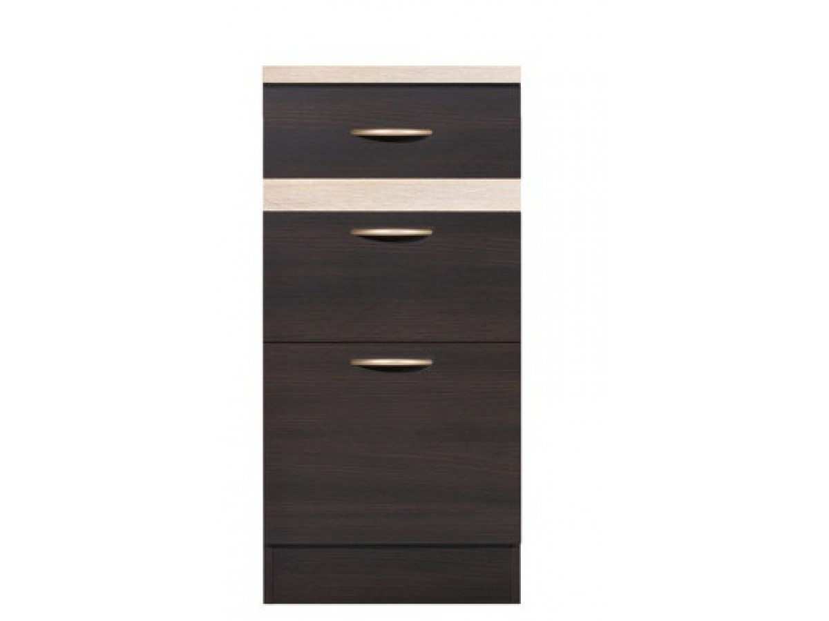 Base cabinet 40 cm with 3 drawers 108 95 for 40 kitchen cabinets