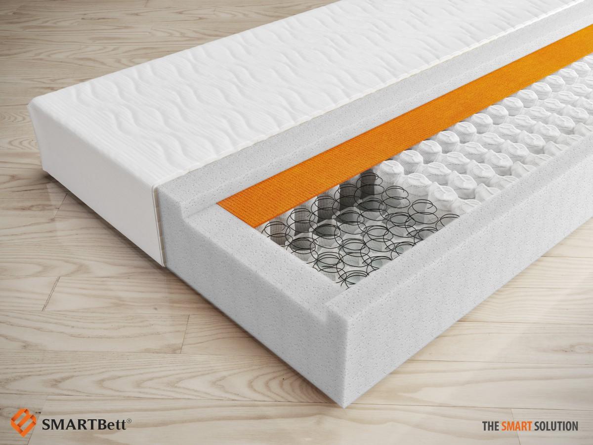 schrankbett 160 cm vertikal weiss komfort lattenrost smartbett gasdr. Black Bedroom Furniture Sets. Home Design Ideas