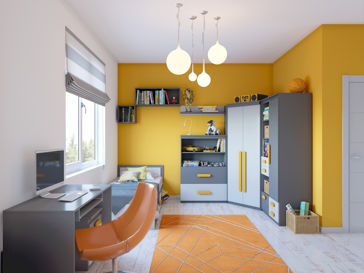 Jugendzimmer orange grau die neuesten innenarchitekturideen - Jugendzimmer grau ...