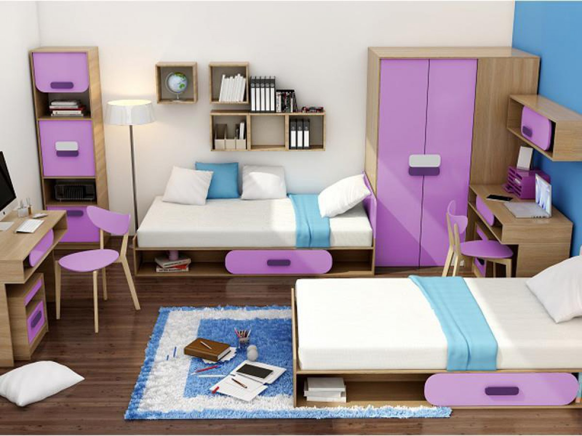 jugendzimmer f r m dchen jungen gusto 07 6 tlg eic. Black Bedroom Furniture Sets. Home Design Ideas