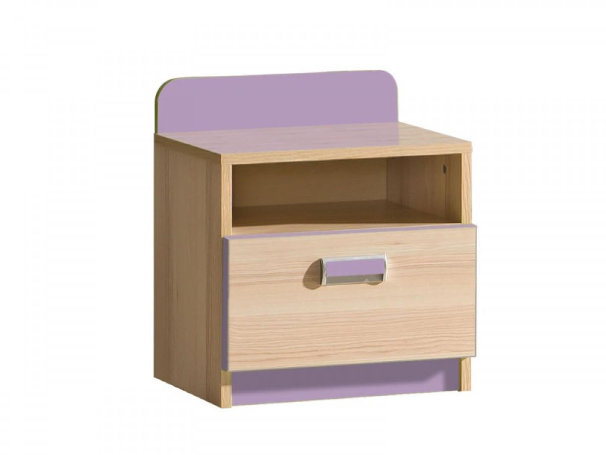 nachttisch limo mit 1 schublade esche natur violett 49 30. Black Bedroom Furniture Sets. Home Design Ideas
