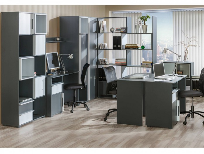 arbeitszimmer einrichten hier g nstig bs moebel. Black Bedroom Furniture Sets. Home Design Ideas