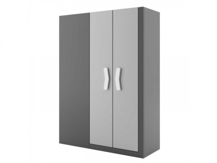 Walk-in closet Right Anthracite / Grey / White